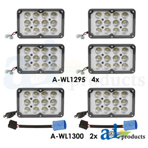 A-WL2123KT: 6 Light LED Light Kit